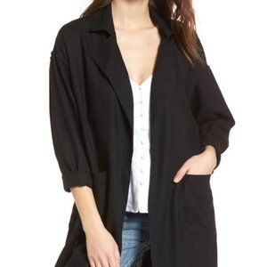 BP. Linen Blend Black Duster Jacket